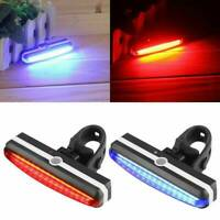LED Bicycle Bike Cycling Front Rear Tail Light USB Rechargeable 6 Modes Lamp #T