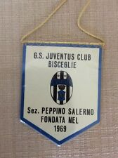 GAGLIARDETTO CALCIO JUVENTUS F.C. CLUB BISCEGLIE 1969 SEZ. SALERNO ULTRAS ULTRA'