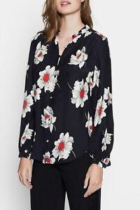EQUIPMENT Black Floral cornelia blouse XS, S, M, L 100% Silk designer blouse