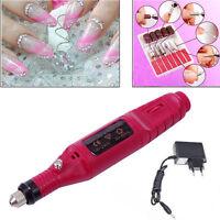 Nail Art Drill KIT Electric FILE Buffer Bits Acrylic Portable Salon Machine FE