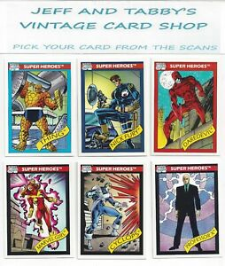 1990 Impel Marvel Universe Series 1 pick your cards from scans