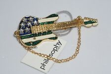 Collectible Fashion Pin - Blink Metal Guitar by Philosophy Men - Vintage 2000's