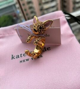 KATE SPADE New York  Haute Stuff Chihuahua Dog Ring size 7