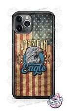 American Distressed Flag Eagle Phone Case Cover For iPhone Samsung Google LG