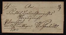 $German Stampless Cover, Schladen-Wolfenbuttel