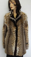 NEW REFURBISHED DESIGNER STYLE MONTANA LYNX FUR JACKET COAT WOMEN WOMAN SZ10 MED