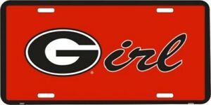 "Georgia Bulldogs NCAA ""Girl"" License Plate"