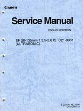 Canon EF 28-135mm F3.5-5.6 IS Lens Service & Repair Manual (C21-9931) - Original