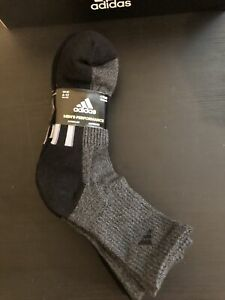 NWT Adidas Men's High Quarter Sock, 4-pair