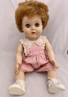 """Vintage 1950's Toodles w Romper Crying Drink Wet American Character Doll USA 21"""""""