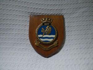Royal Navy Fleet Air Arm 849 Naval Air Squadron Wall Plaque Crest Shield