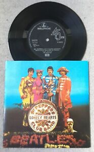 """45 trs EP Beatles """" Set Pepper Lonely Heart Club Band """" Parlophone R 6022"""
