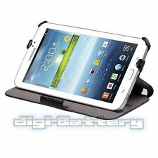 "Heat-Setting Black Leather Folio Case For Samsung Galaxy Tab 3 7.0"" Lite SM-T110"