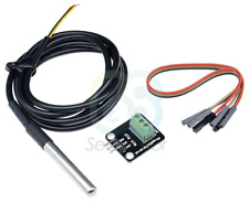 DS18B20 Stainless Steel Probe Waterproof Temperature Sensor 1M Cable + PCB kit