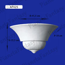 APPLIQUE IN GESSO CERAMICO VERNICIABILE LAMPADA DA PARETE MURO MODERNO AP425
