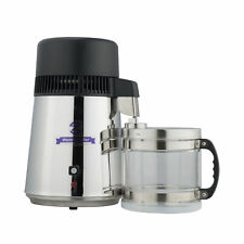 4L Pure Water Distiller Top 304 Stainless Steel Glass Jar for Dental Medical Lab