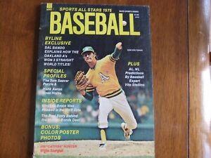 Baseball Sports All-Stars 1975 Magazine Ken Holtzman MLB Oakland Athletics