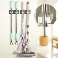 Wall Mount Mop Broom Holder Hanger Cleaning Kitchen Tool Double Organizer US