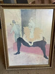 The Seated Clowness by Henri de Toulouse Lautrec Quality Print Framed