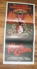 KING COBRA 1981 ORIGINAL MOVIE POSTER AUSTRALIAN DAYBILL FOLDED