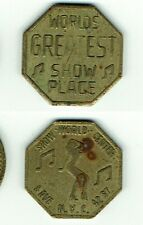 Brothel Token World's Greatest Show Place NYC Show World Center 8th Ave & 42nd