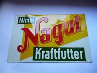 Nimm Nagut Kraftfutter  Varel   Orig, altes Blechschild 1950/60er Jahre