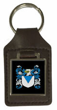 Mather Heraldry Surname Coat Of Arms Brown Leather Keyring Engraved