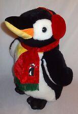 """Penguin Plush Stuffed Animal Large 19"""" JC Penny Christmas Black White Holiday"""