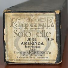 Rythmodik for Solo-elle Piano Roll J934 Amerinda Played by Andrei Kmita 1917