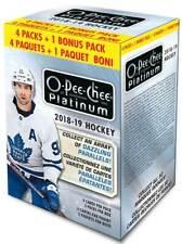 2018-19 Upper Deck O-Pee-Chee Platinum Hockey Cards 5+1 Bonus pk Blaster Box FS
