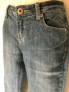 """US DENIM Stretch Denim Jeans Size 10 *30"""" band Straight Relaxed Fit Low Rise"""