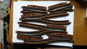 TRIANG TT GAUGE TRACK , POINTS, STRAIGHTS AND CURVES,ALL USED .