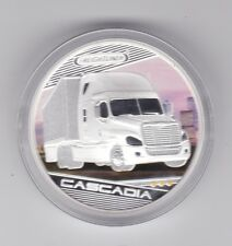 2010 Freightliner Truck Cascadia Silver Proof $1 Coin Tuvalu Prth Mint Australia