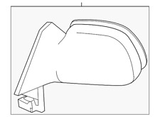 Genuine Toyota Mirror Assembly 87910-02380