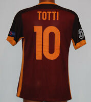 MAGLIA ROMA TOTTI UCL CHAMPIONS LEAGUE 2015 JERSEY NIKE AUTHENTIC PLAYER ISSUE L