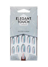 ELEGANT TOUCH False Nails - Chrome 2.0 Silver Siren - Stiletto 24 Nails 10 Sizes