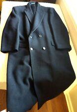 Men's Lambswool Dress Coat Today's Man Black Full Length Joseph Hoyle England