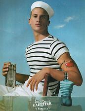 """Publicité Advertising 2002  Parfum  JEAN PAUL GAULTIER  """" LE MALE """""""