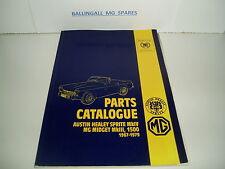 MG HERITAGE AUSTIN HEALEY SPRITE , MIDGET,1500 PARTS CATALOGUE 1967-1979