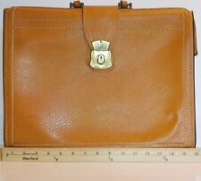 VINTAGE HONEY BROWN LEATHER LAWYER/DOCTOR'S BRIEFCASE