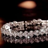 Mode Femmes Roman Chaîne Effacer Zircon Cristal Bracelet Strass Bracelet cadeau