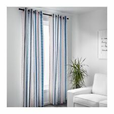 "BRAND NEW IKEA Mossflox Multicolor Curtains 57""x 98"" PAIR"