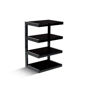 Norstone ESSE HiFi Rack / Stand/ AV Furniture In Black With 4 Shelves