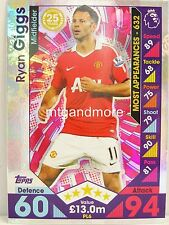 Match Attax 2016/17 Premier League -  PL6 Ryan Giggs - Player Legends