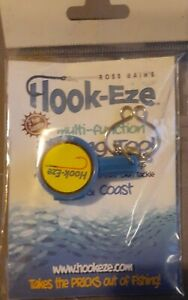 Hook Eze Multi Function Fishing Tool Line Cutting Knot Tying Safety Cover Blue