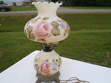 RARE VINTAGE GONE WITH THE WIND,HAND PAINTED LAMP,SIDE TABLE LAMP,ANTIQUE,WORKIN