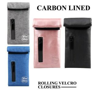 Smell Proof Pocket Pouch Travel Rolling Paper Herb Stash Bag Case Storage UK