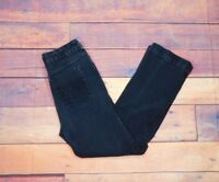 "Chico's Women's Platinum Black Jeweled Regular Jeans Size 1 30"" W x 28"" L"