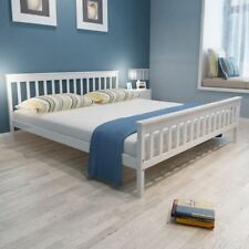 vidaXL Bed Frame Base Furniture White Solid Pinewood 180x200 cm 6FT Super King✓
