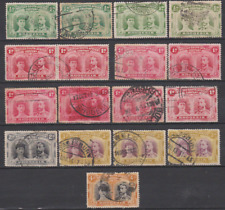 Rhodesia 1910 Double Heads Collection Used